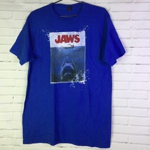 Jaws Mens L Shark Amity Island Graphic Tee T-Shirt